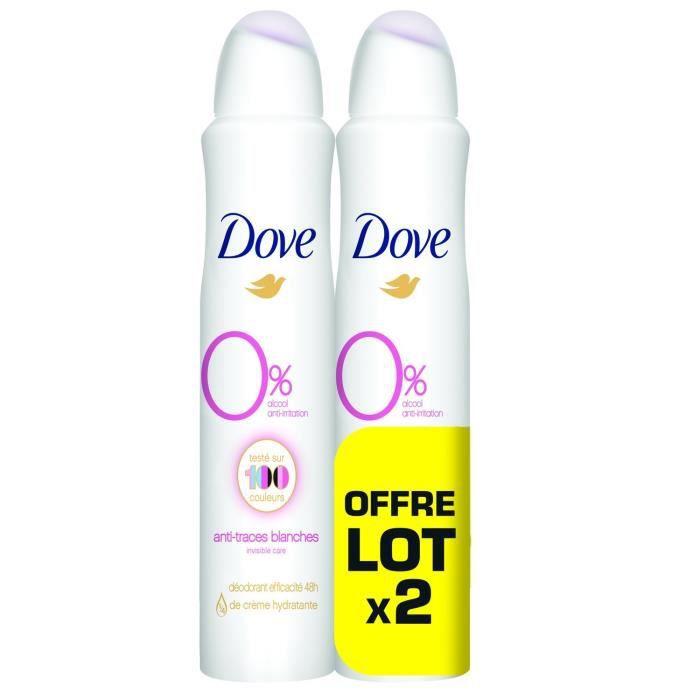 DOVE Déodorant Invisible Care - 2 sprays de 100mL