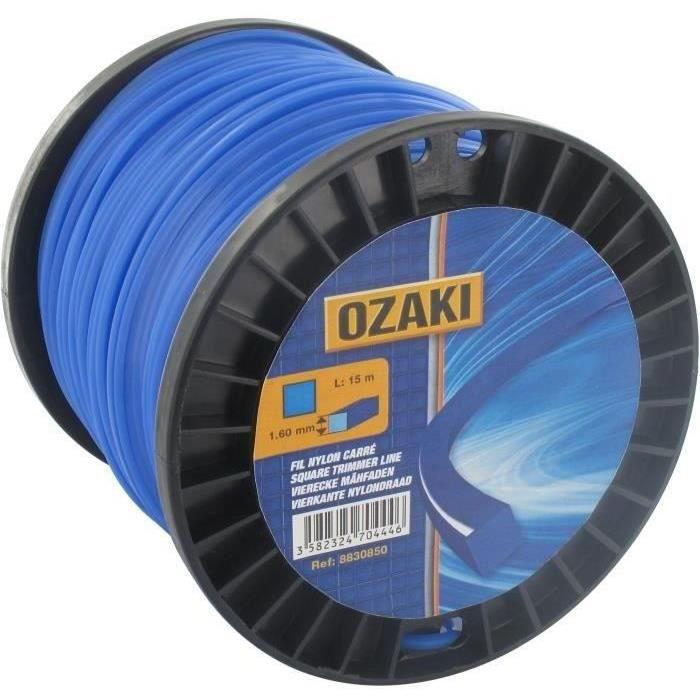 Bobine fil nylon carré OZAKI - Longueur: 60m, Ø: 3,00mm