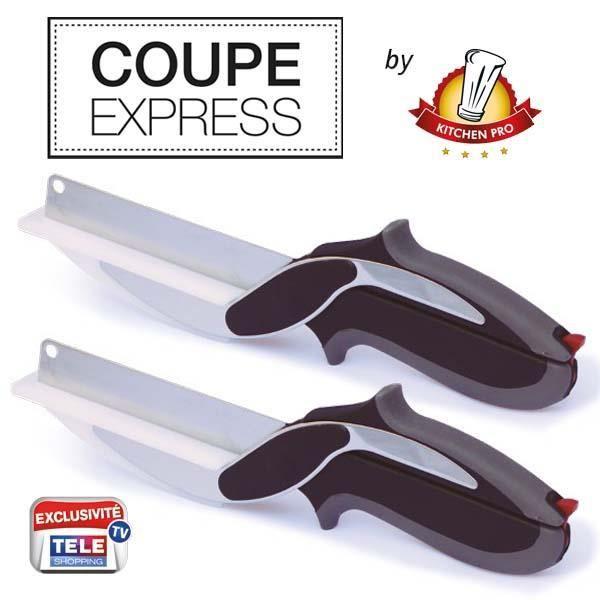 Kitchen Pro – Lot de 2 Coupe Express 2en1 l'Original