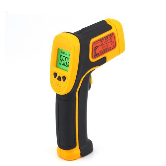 AS530 LCD De Poche Thermomètre Infrarouge Compteur de Température Rouge Laser Testeur Sans Contact Infrarouge Pyromètre Pistolet