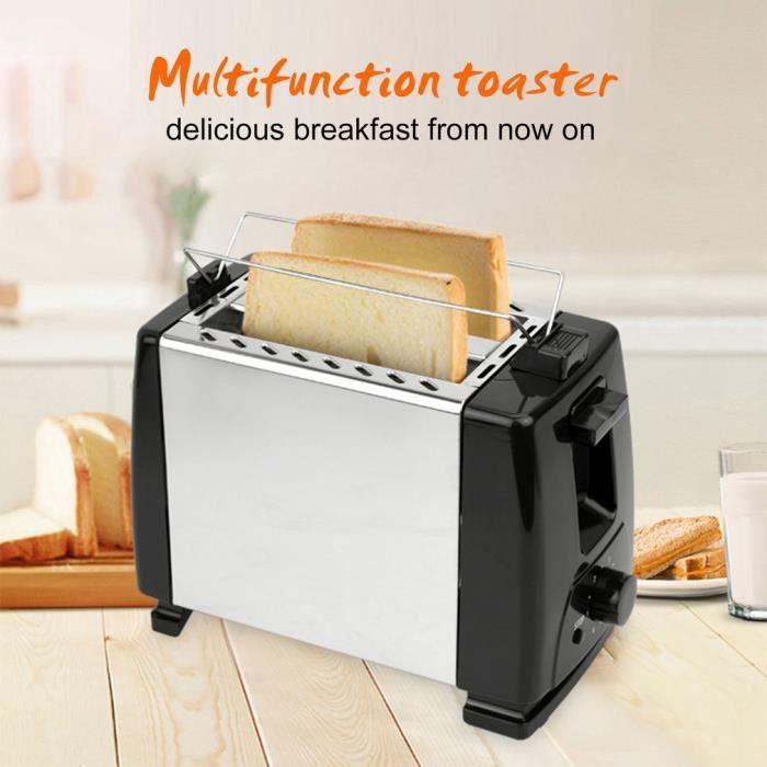 Grille-pain automatique avec support multifonctionnelle pour petit déjeuner
