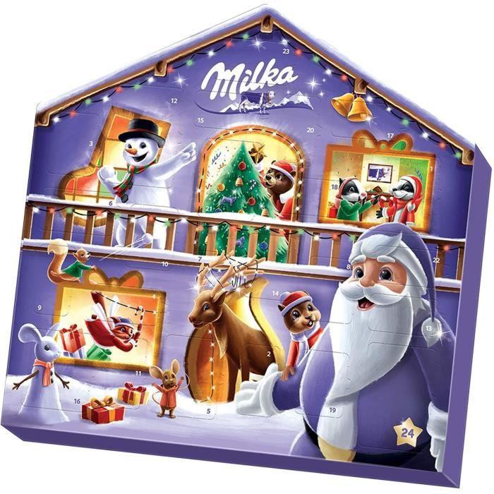 MILKA - Calendrier de l'avent Magic Mix - Chocolats de Noël - Boîte de 147 g