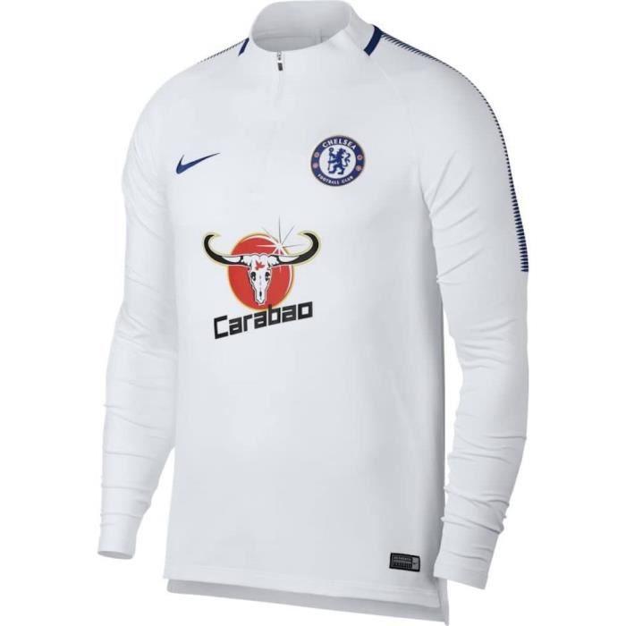 Nike SweatShirt Chelsea FC Blanc Homme Neuf
