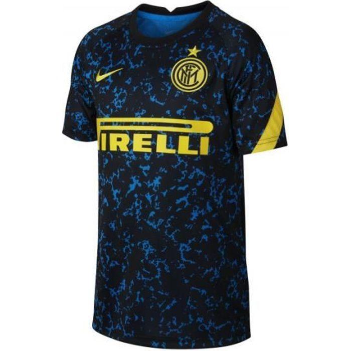 Maillot Pré-Match junior Inter Milan Dry 2020/21 - bleu étincellant/bleu étincellant/jaune - 8/10 ans