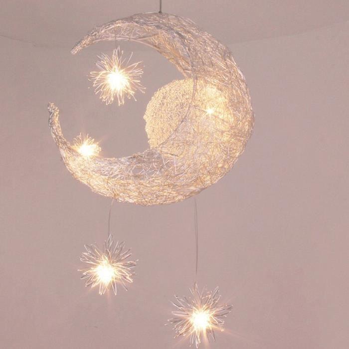 Chambre Suspension enfant Light Moon Star Kid Lustre lumière plafonnier moderne Balcon Lampe