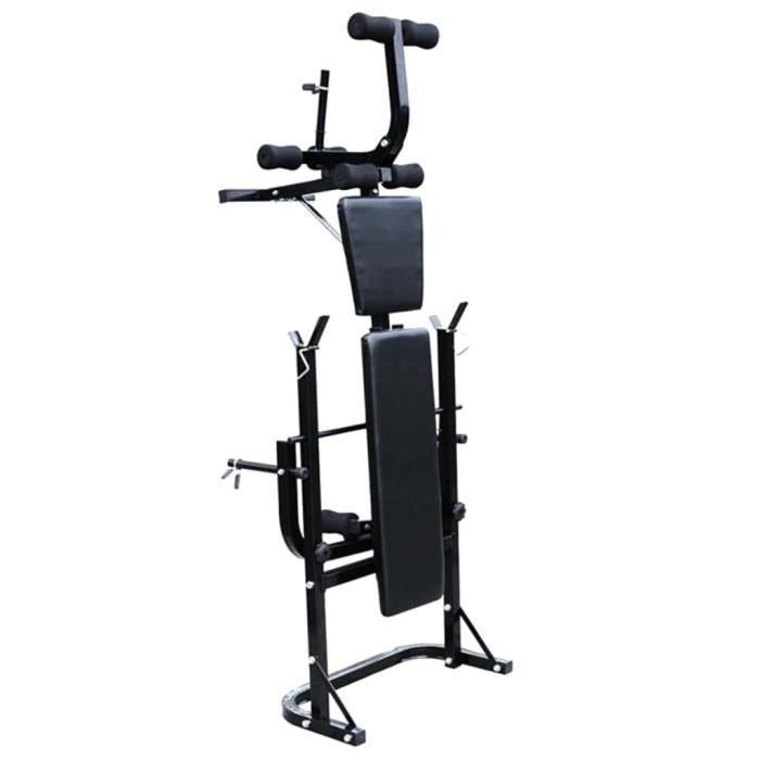Economique Banc d'entraînement avec support de poids jeu d'haltères 30,5kg