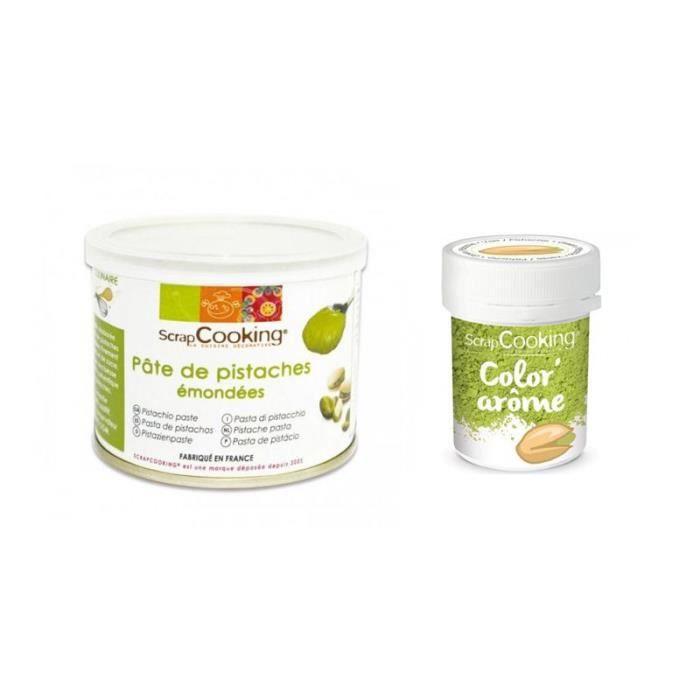 Pâte de pistache 200 g + colorant vert arôme pistache