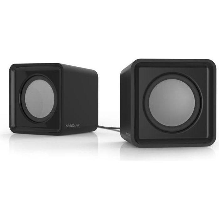 Speedlink Twoxo Enceintes 2.0 alimentées sur port USB et prise jack 3,5 mm