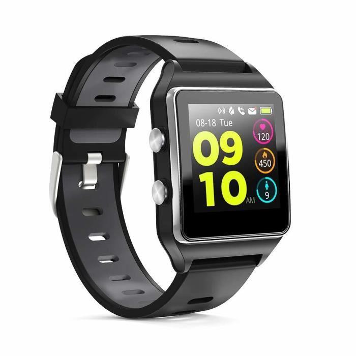 Montre Connectée GPS, Montre Intelligente Femme Homme IP68 Etanche Bracelet Connecté Cardio Podometre Smartwatch Sport Fitness