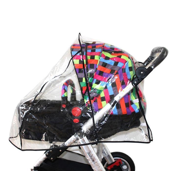 Vococal® Universel Habillage Pluie bébé transparent Cover pour Poussette transparent étanche pluie Protéger bébé