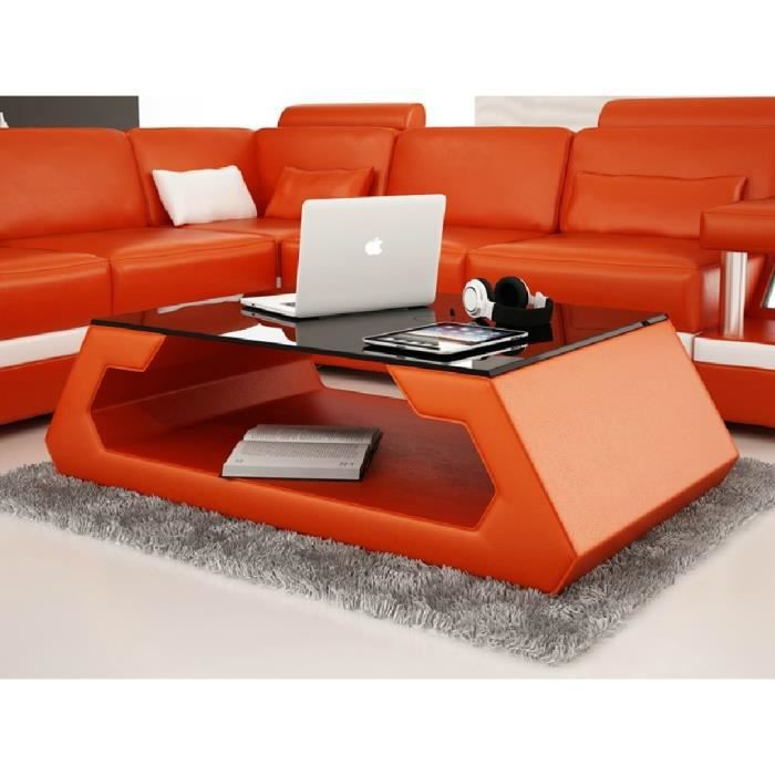 table basse davy orange achat vente table basse table basse davy orange cdiscount. Black Bedroom Furniture Sets. Home Design Ideas