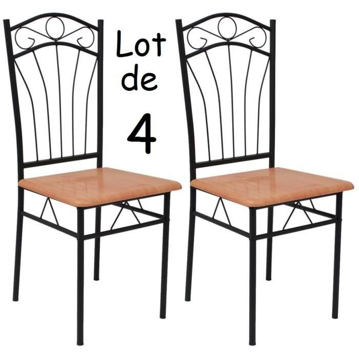 chaise bois et fer forge achat vente chaise bois et fer forge pas cher cdiscount. Black Bedroom Furniture Sets. Home Design Ideas