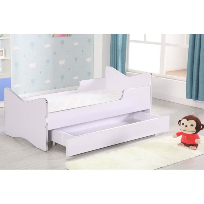lit enfant avec tiroir matelas sommier achat vente. Black Bedroom Furniture Sets. Home Design Ideas