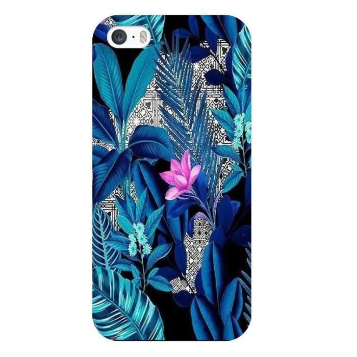 coque iphone 6 plus tropical uv fleur rose exotiqu