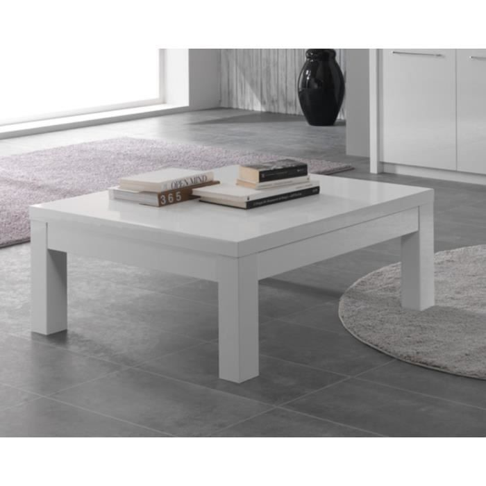 table basse carre salon fano blanc achat vente meuble tv table basse carre salon fan cdiscount. Black Bedroom Furniture Sets. Home Design Ideas