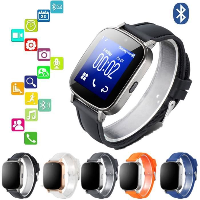 bluetooth montre intelligente carte sim gsm pour iphone smartphonespaschers. Black Bedroom Furniture Sets. Home Design Ideas