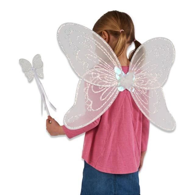 Fée Ange paillettes Ailes Costume Déguisement Adultes Enfants Party Outfit Set