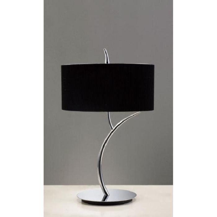 lampe a poser eve 2l noire chrome mantra achat vente lampe a poser eve 2l noire chrome. Black Bedroom Furniture Sets. Home Design Ideas