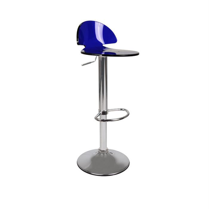 tabouret de bar design en plexiglas bleu orion achat vente tabouret cdiscount. Black Bedroom Furniture Sets. Home Design Ideas