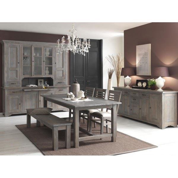 Salle manger bella bois massif exotique mind achat for Meuble angle salle a manger