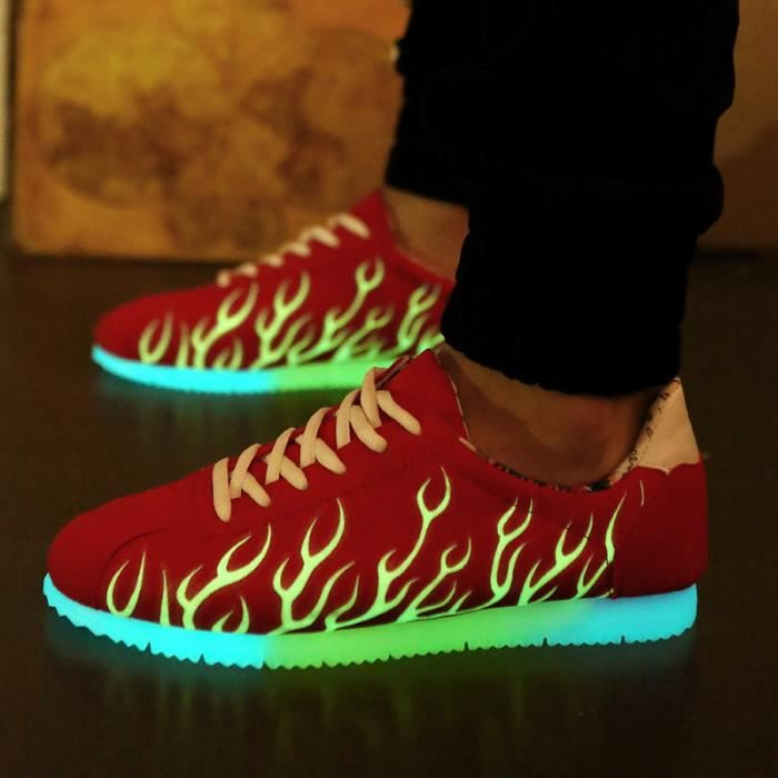 Homme chaussuresFemme chaussures Loisirs LEDChaussures lumineuses