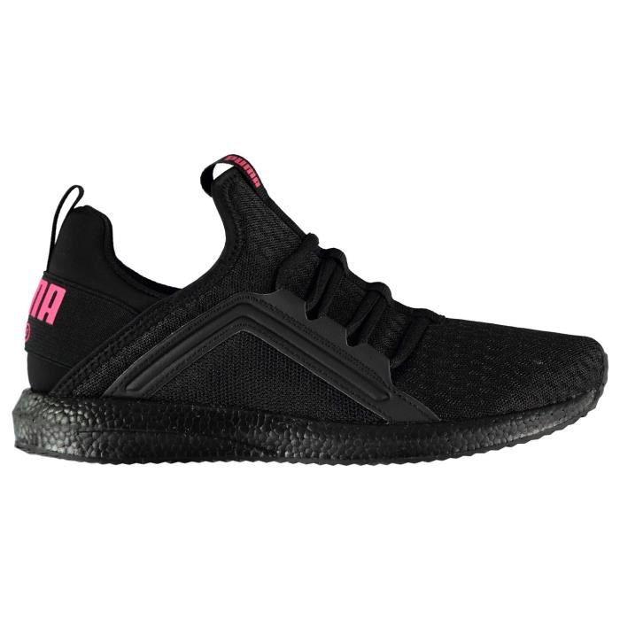 basket puma femme rose et noir