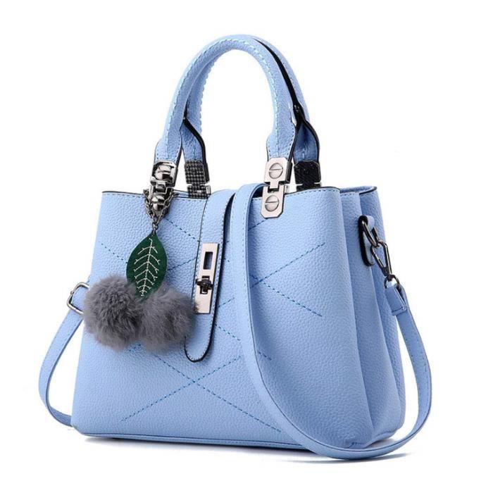 Sac Port/é /épaule Sac Bandouli/ère pour Femme Sac /à Main Femme Vintage Sac Messenger Plusieur Couleur Bleu