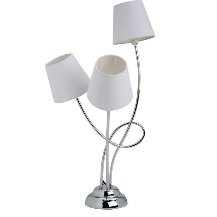 lampe poser design 3 abat jour tiges d form es 75cm. Black Bedroom Furniture Sets. Home Design Ideas