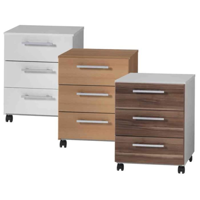 caisson mobile mura 3 tiroirs blanc pur achat. Black Bedroom Furniture Sets. Home Design Ideas