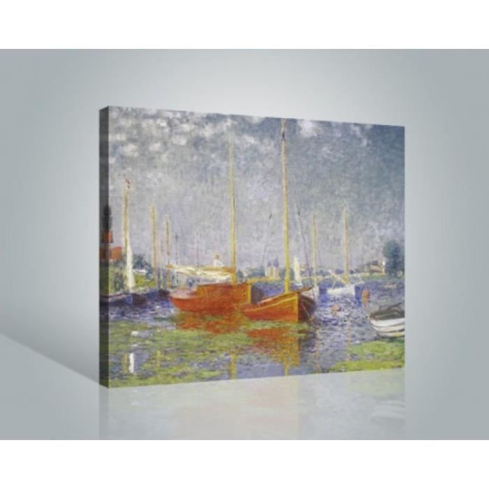 Claude monet poster reproduction sur toile tendue sur for Poster sur toile