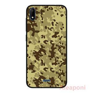 COQUE - BUMPER Coque pour Wiko Y50 Smartphone Camouflage gris sil