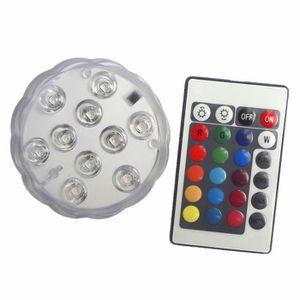 ECLAIRAGE DE MEUBLE ouniondo® 4pcs Submersible RGB LED Changing Lumign