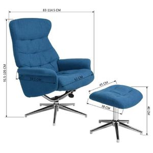 fauteuil de relaxation bleu achat vente pas cher cdiscount. Black Bedroom Furniture Sets. Home Design Ideas