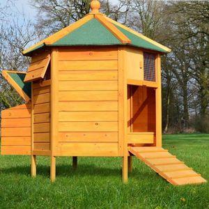 POULAILLER Poulailler en bois pour jardin extérieure 125 cm c