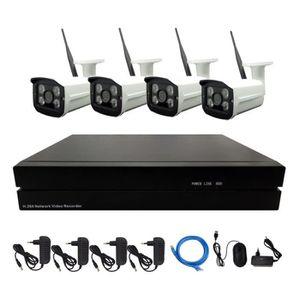 CAMÉRA DE SURVEILLANCE 4CH sans fil 1MP 720P caméra IP système de vidéosu