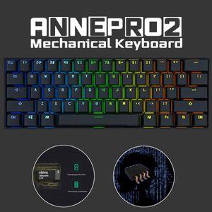 CLAVIER D'ORDINATEUR Anne pro 2 clavier mécanique sans fil(QWERTY)avec