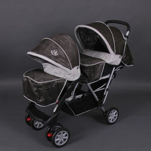 POUSSETTE  Poussette double sport marron Top Design