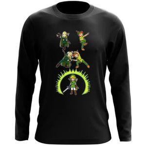 T-SHIRT T-Shirt à manches longues Noir Zelda et Seigneur d