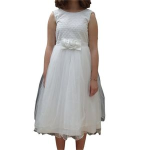 Robe Ceremonie Fille Blanche Achat Vente Pas Cher