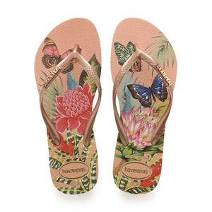 TONG Havaianas Slim Tropical Tongs Saumon Taille 3-4