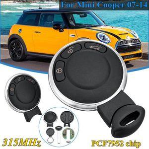Cover T/él/écommande Voiture 3 Boutons pour BMW Mini Cabrio Cooper D S One Cuntryman Clubman Paceman 2007-2014 Coque Cl/é pour Mini