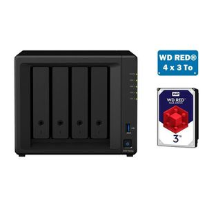 SERVEUR STOCKAGE - NAS  Synology DS418PLAY WD RED 12To