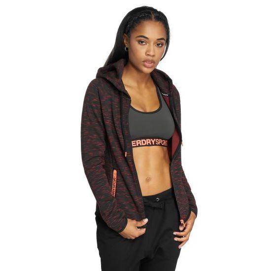 Superdry Femme Hauts Sweat capuche zippé Gym Tech Luxe