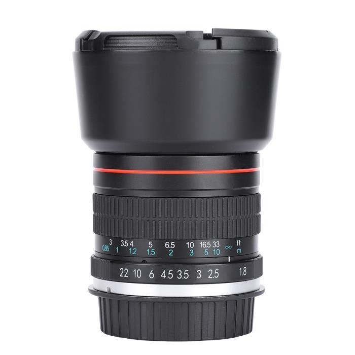 Objectif principal plein cadre à mise au point manuelle Téléobjectif 85 mm F1.8 (pour monture Canon EF)