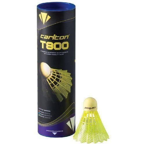 Carlton T800 Volants de badminton, mixtes Jaune Tube de 6 - D003777