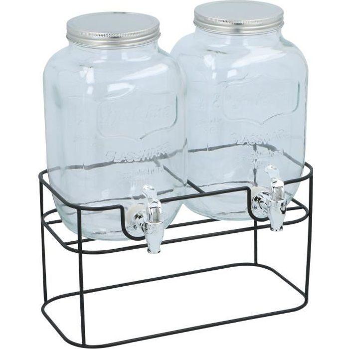 Cuisine Elegance - Double distributeur de boisson - 2 x 4 litres - y compris norme - 33x17x32cm