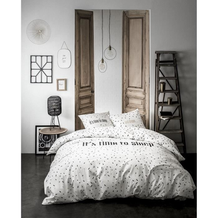 TODAY Parure de couette - Gold is Black - Sleep Dream - 100% Coton - 220x240cm - Blanc