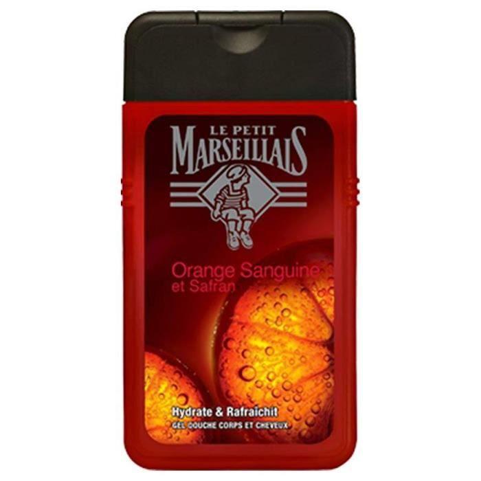 LE PETIT MARSEILLAIS - GEL DOUCHE - Orange Sanguine et Safran - 250ml
