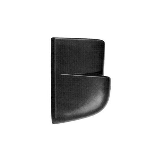 Crosse arrière gauche MERCEDES SPRINTER I (W901-W904), 1995-2000, noire, embout pare chocs arrière.