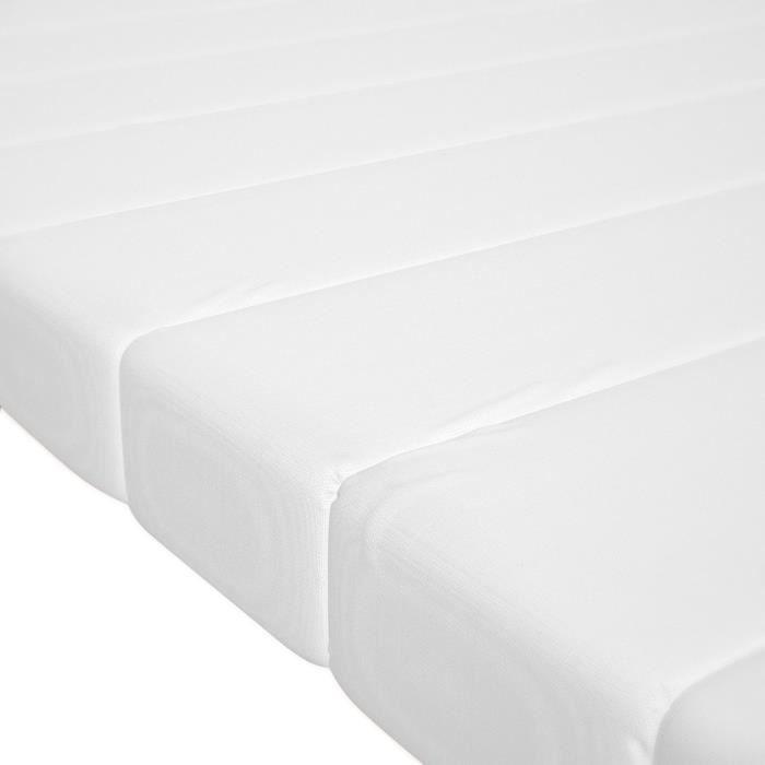 Surmatelas 80x200 cm mousse confort housse microfibre surmatelas ferme et moelleux pour un sommeil réparateur épaisseur 5 cm